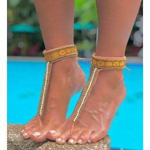 Barefoot sandals Africa geel
