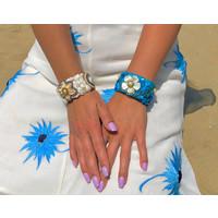 Isla Ibiza klemarmband blauw