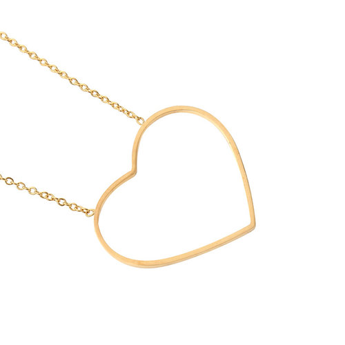 Gold-plated ketting Big Heart