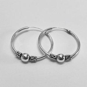 Bali hoops 22 mm zilver