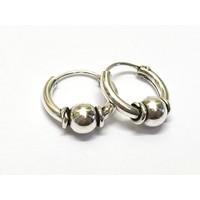 Bali hoops 9 mm zilver
