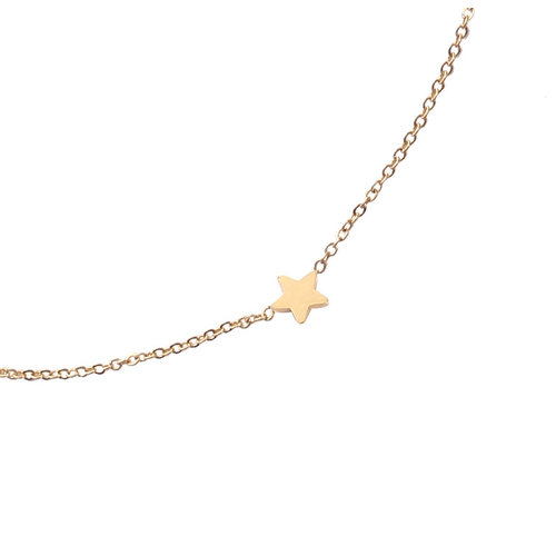 Gold-plated ketting Stars