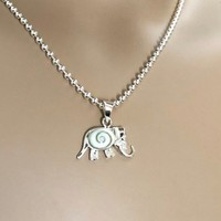 Ketting shiva shell olifant