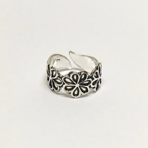 Teenring / vingertop ring HIPPY FLOWER