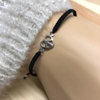 Bedel armbandje LOVE&PEACE - 925 zilver