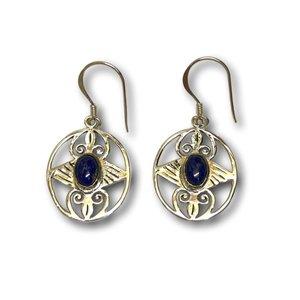 Zilveren edelsteen oorbellen Lapis Lazuli