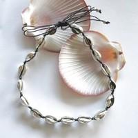 Choker ketting schelpjes zilver