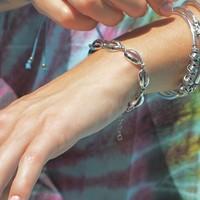 Zilveren armband Seashell