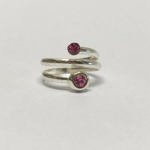 Teenring / vingertop ring TWINKLE PINK