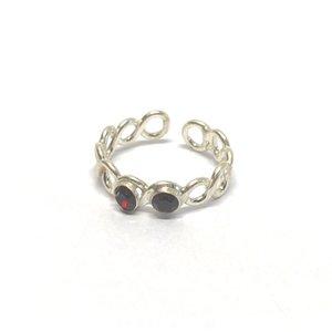 Teenring / vingertop ring SHINY RED
