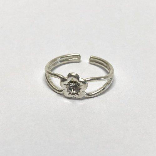 Teenring / vingertop ring SHINY FLOWER