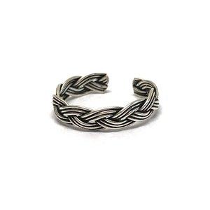 Teenring / vingertop ring OXIDISE BRAID
