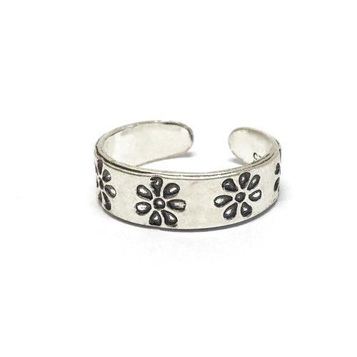 Teenring / vingertop ring LUCKY FLOWER