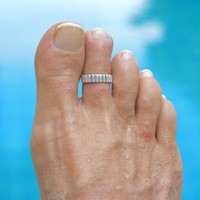 Teenring / vingertop ring STRIPES