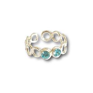 Teenring / vingertop ring SHINY BLUE