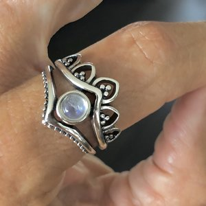 Zilveren ring Maansteen Chiara