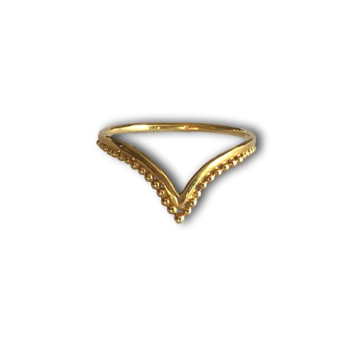 Goldplated ring Bali queen