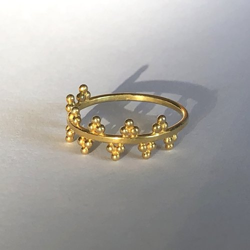 Goldplated ring Queenie