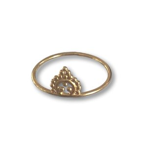 Goldplated ring Miss