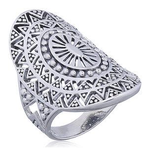 Zilveren Boho ring Mandala