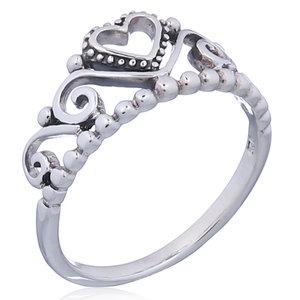 Zilveren ring Tiara
