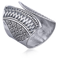 Zilveren BOHO ring Lima