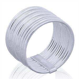 Zilveren multi ring