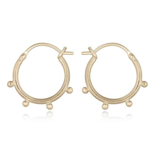 Goldplated hoop oorbellen Celia
