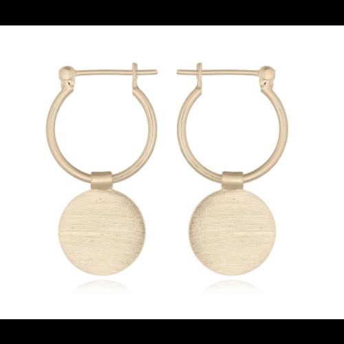 Goldplated oorbellen Disca