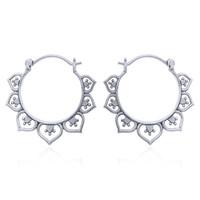 Zilveren oorbellen Bella