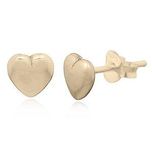 Goldplated oorbellen hartje