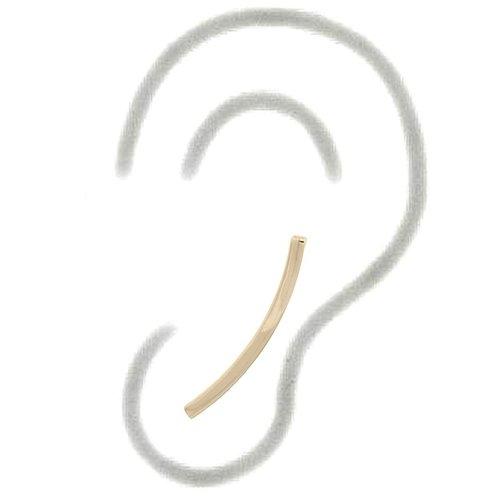 Goldplated ear climbers