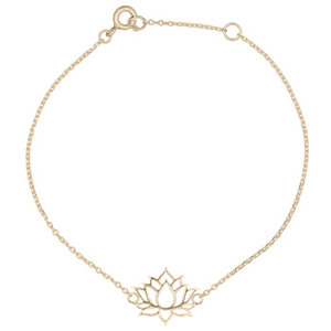 Goldplated armband Lotus