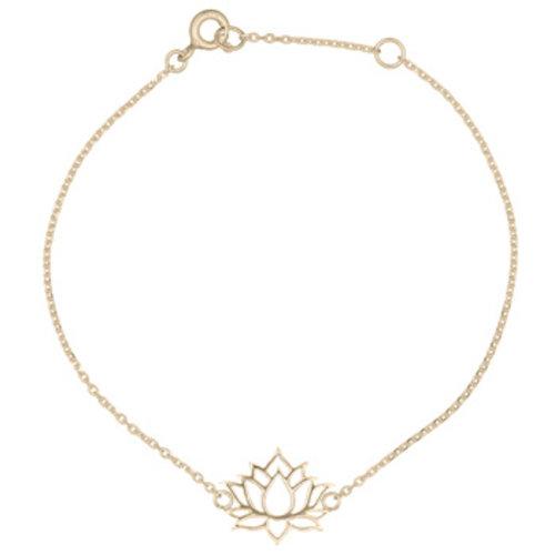 Goldplated armband Lotus