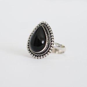 Zilveren ring Black Onyx