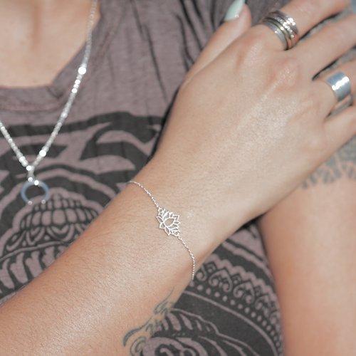 Zilveren armband Lotus