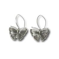 Zilveren Boho oorbellen Vlinder