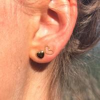 Goldplated oorbellen Lovely heart