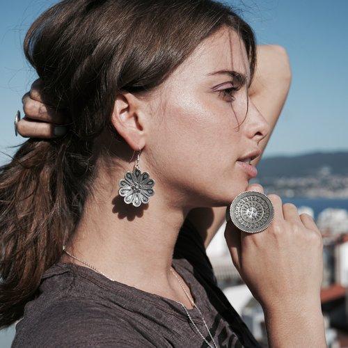 Zilveren Boho oorbellen Harper