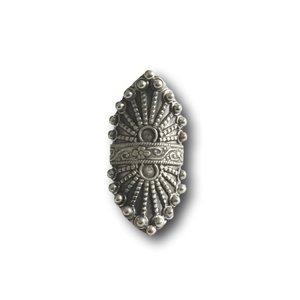 Zilveren Boho ring Paisley