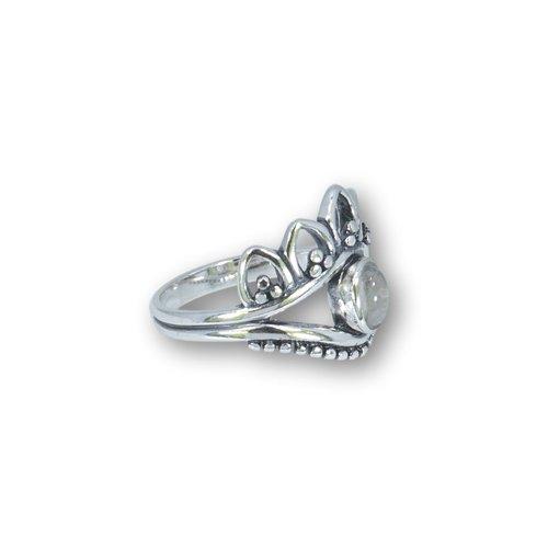 Zilveren ring Chloë Maansteen