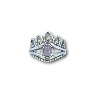 Zilveren ring Chloë Amethist