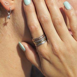 Zilveren ring Tricolore