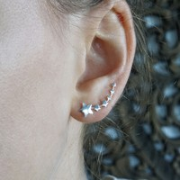 Zilveren ear climber