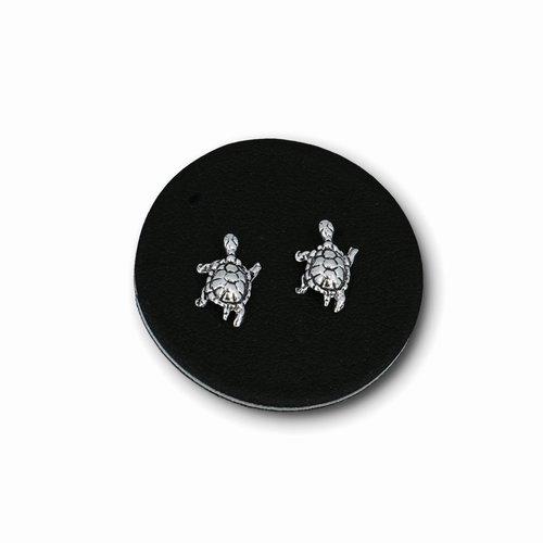 Zilveren oorknopjes Schildpad