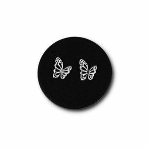 Zilveren oorknopjes Vlinder