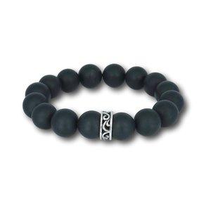 Kralen armband Matte Black Onyx