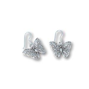Zilveren Vlinder oorbellen