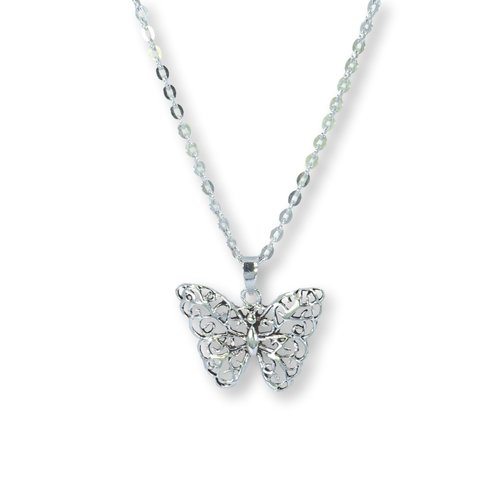 Zilveren ketting met Vlinder