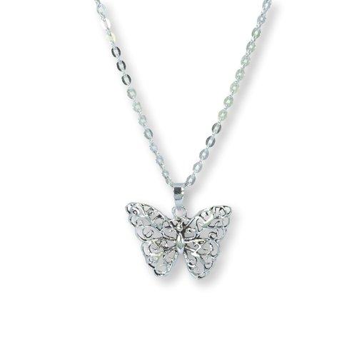 Zilveren ketting Vlinder